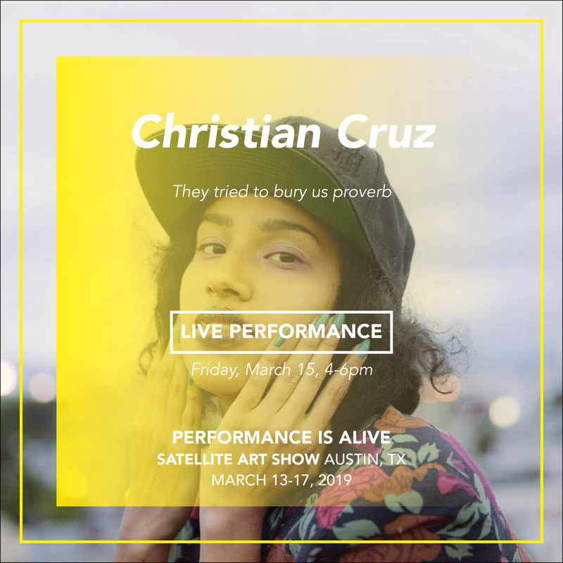 Christian Cruz, LIVE PERFORMANCE Friday, March 15th at 4-6pm