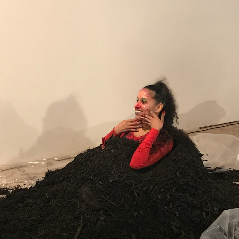 CHRISTIAN CRUZ IN PERFORMANCE AT SATELLITE ART SHOW AUSTIN, PERFORMANCE IS ALIVE 2019