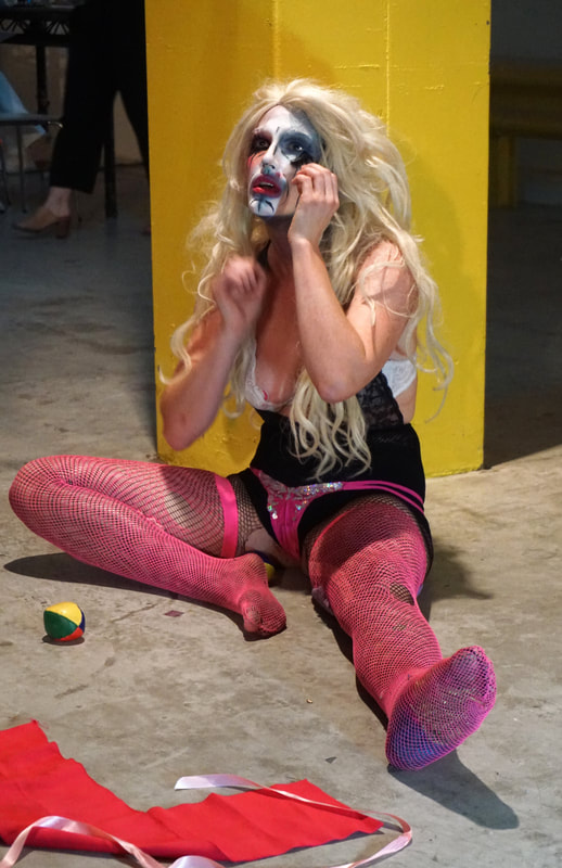 Stephanie McGovern (Brooklyn, NY, USA), Unhinged Showgirl, Performance is Alive at Satellite Art Show NYC 2019 | Photo by Rachel Rampleman
