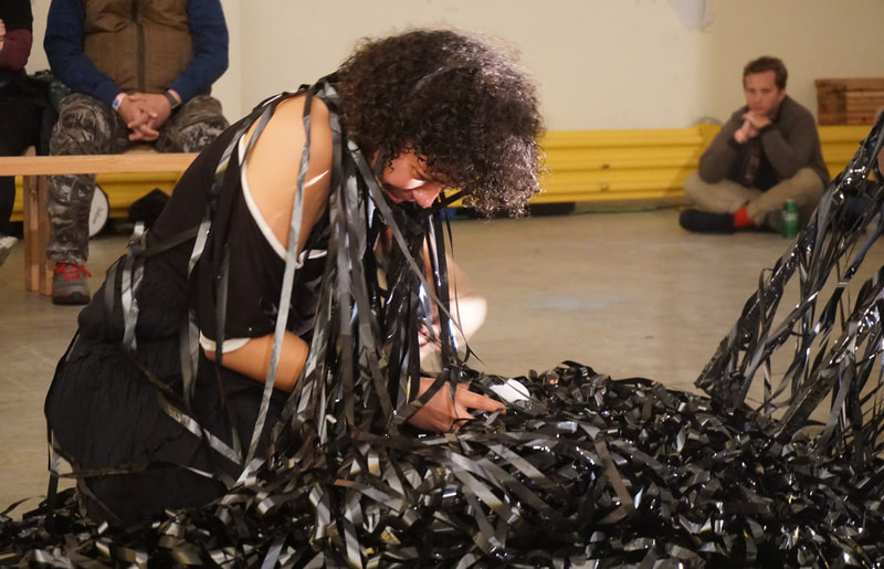 Vyczie Dorado (New York City, NY, USA), CUT, Performance is Alive at Satellite Art Show NYC 2019 | Photo by Rachel Rampleman